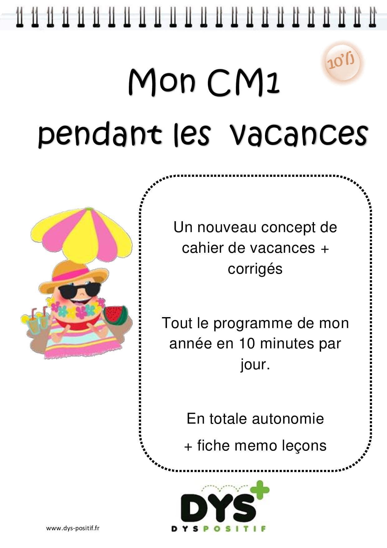 Cahier de vacances de Français au CM1