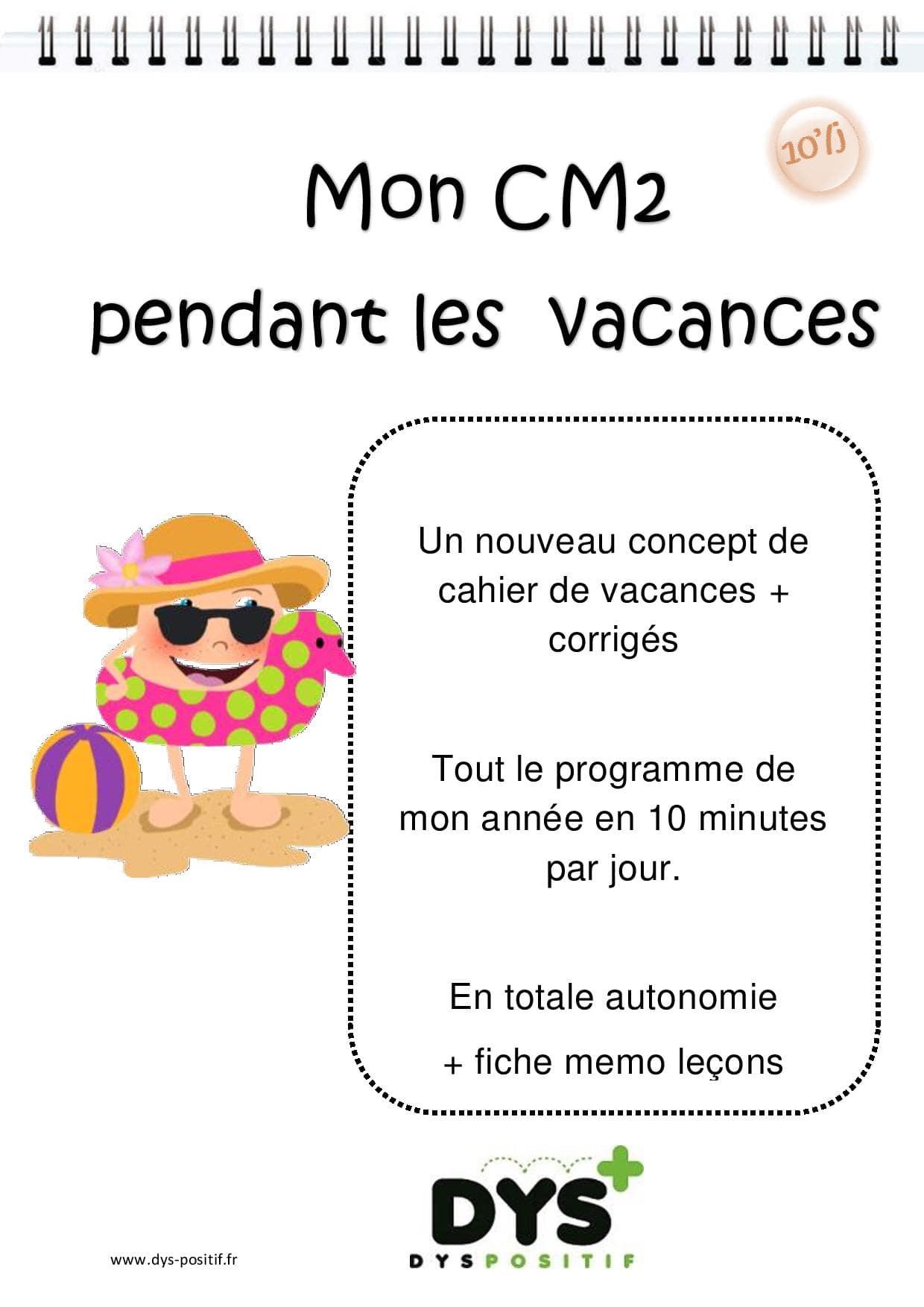Cahier de vacances de Français au CM2
