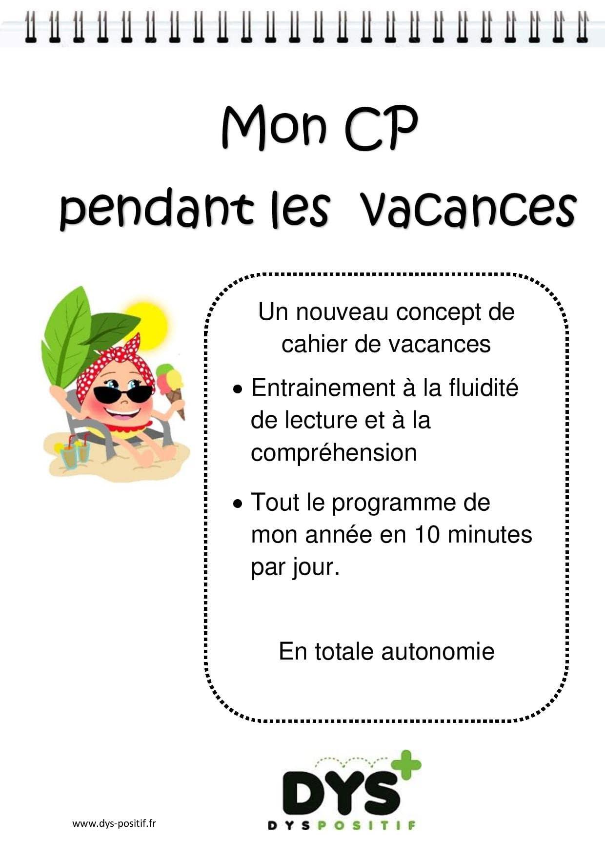 Cahier de vacances de Français au CP