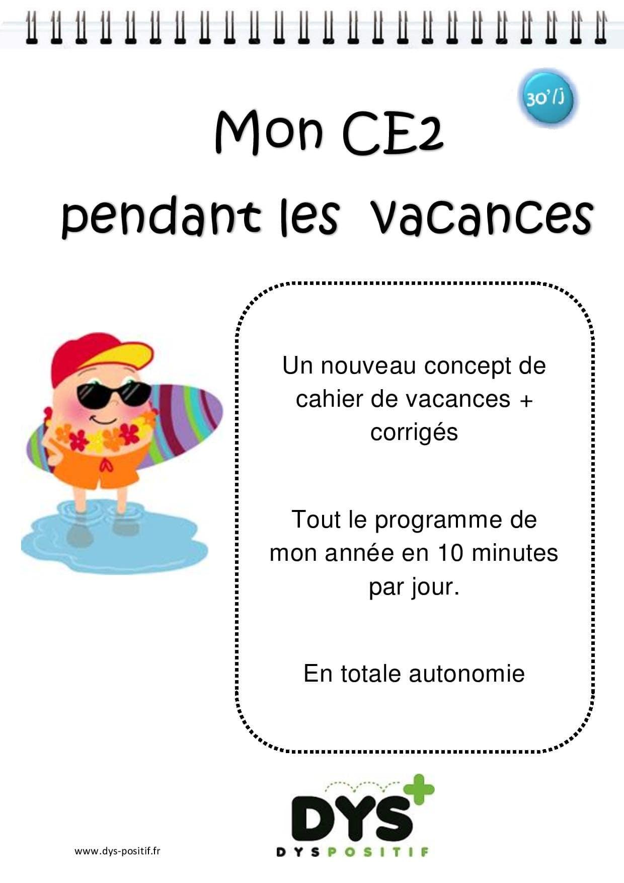 Cahier de vacances de Mathématiques au CE2