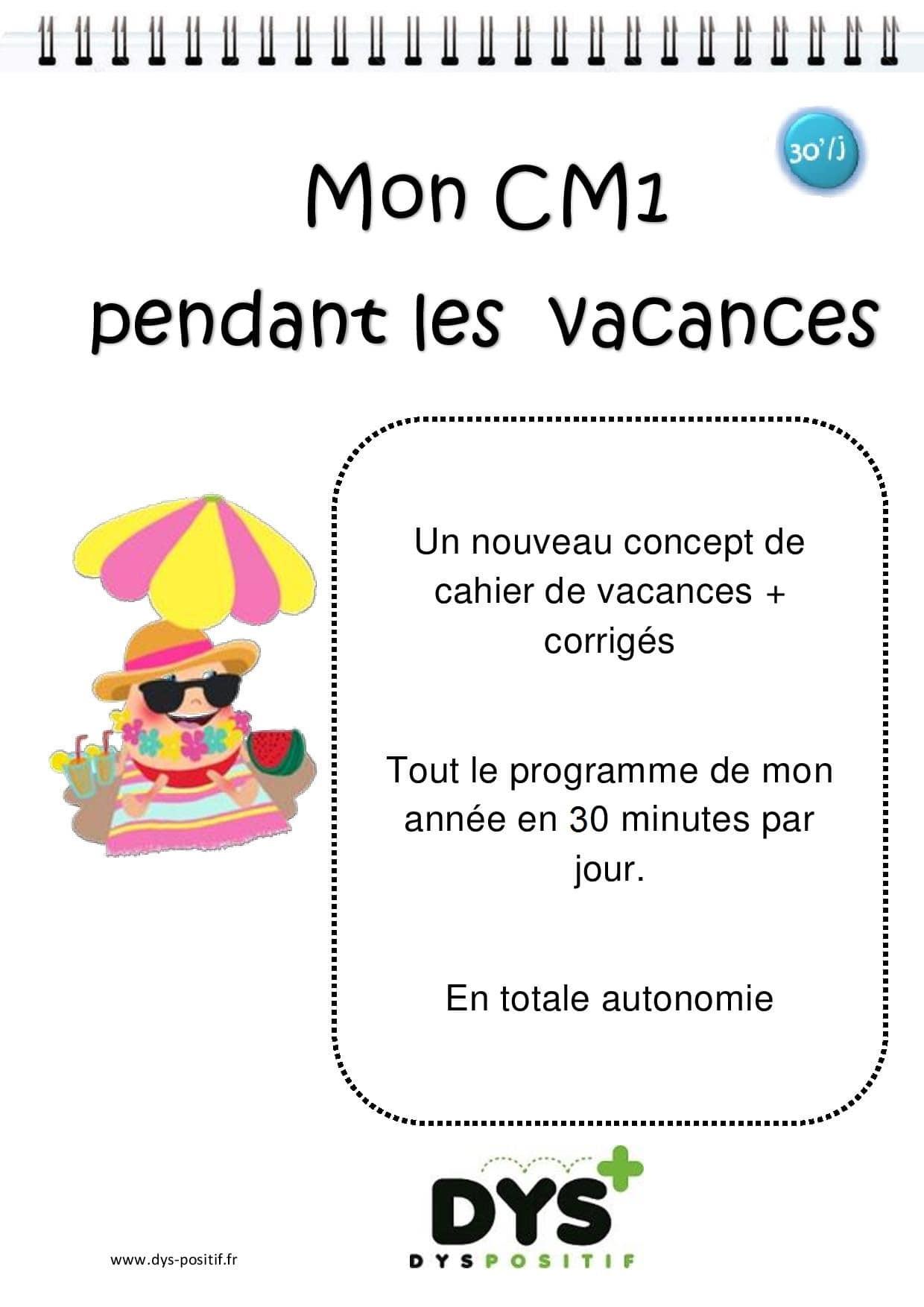 Cahier de vacances de Mathématiques au CM1
