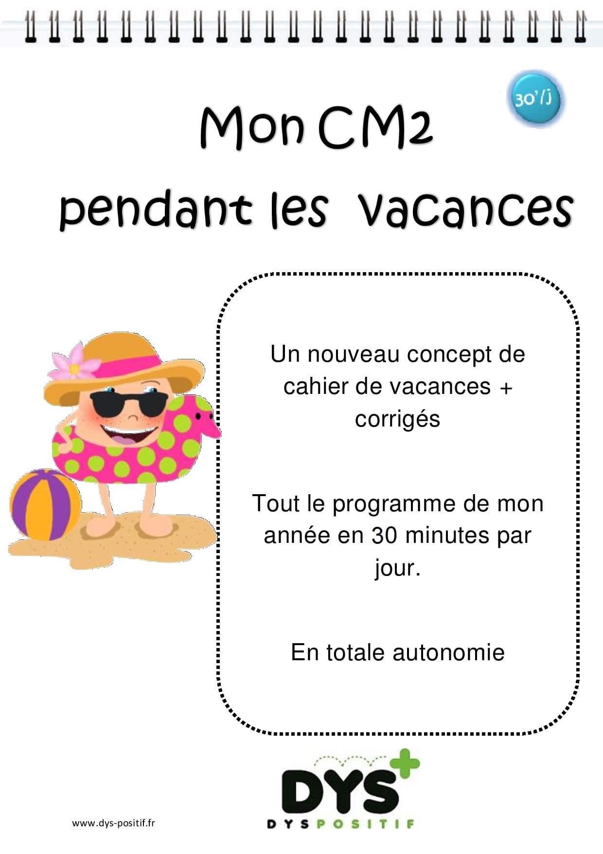 Cahier de vacances de Mathématiques au CM2