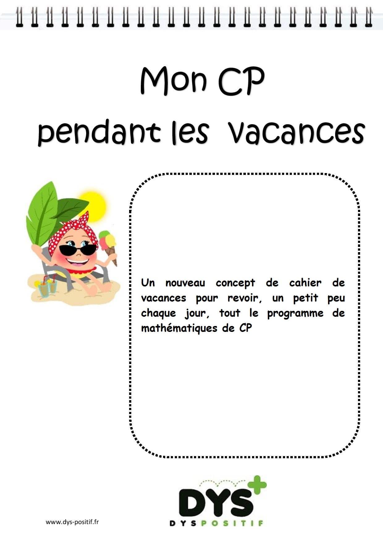 Cahier de vacances de Mathématiques au CP