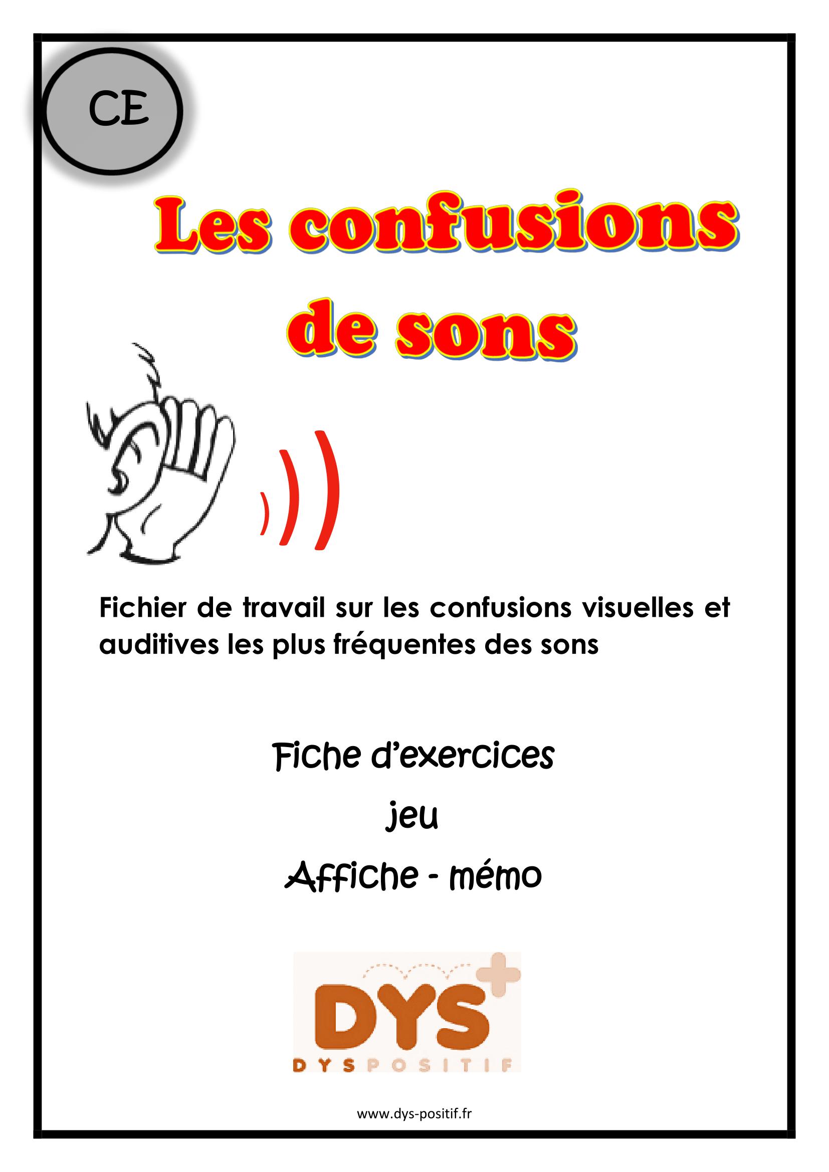 Confusion des sons CE1