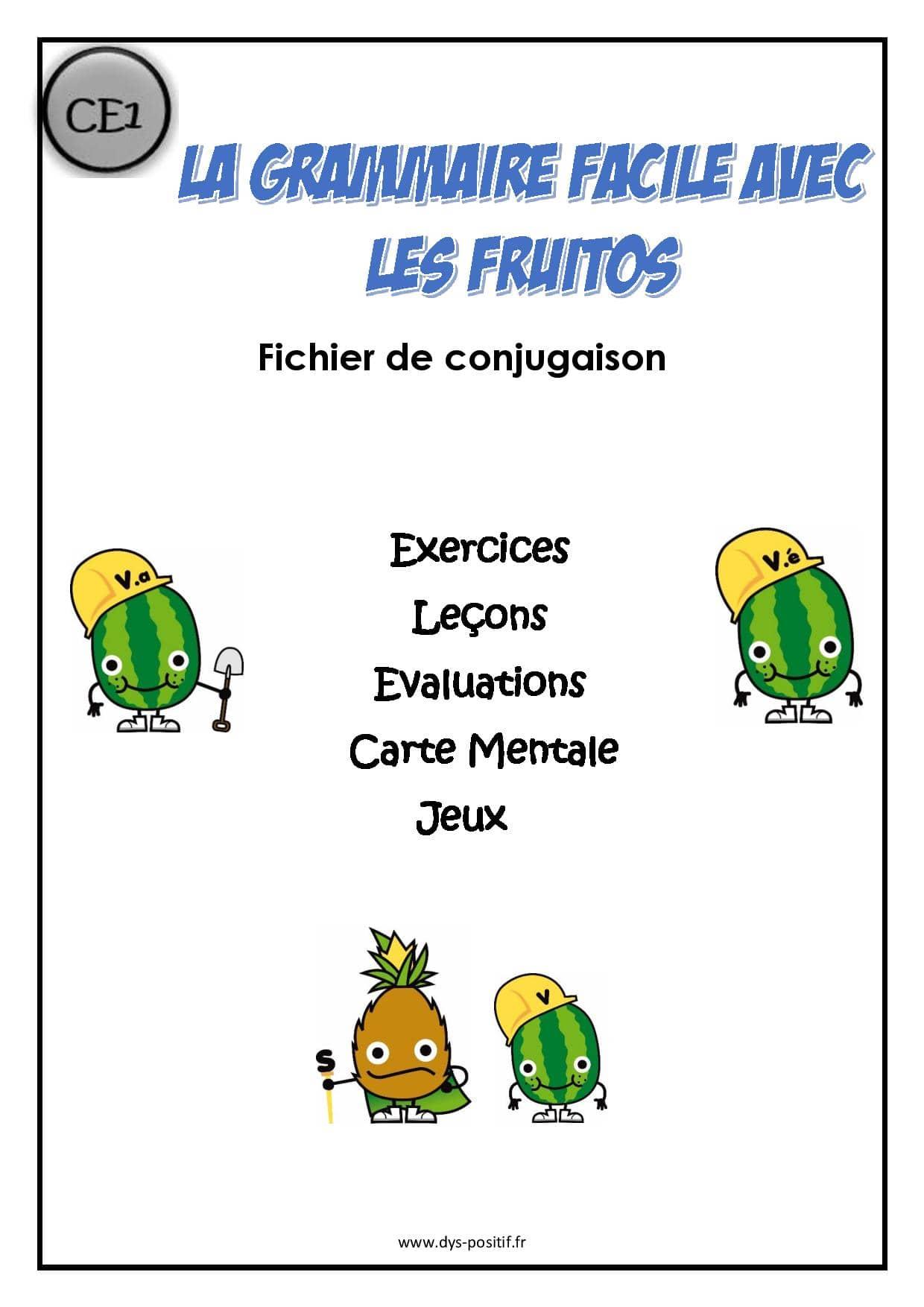 Conjugaison CE1 - Méthode Fruitos