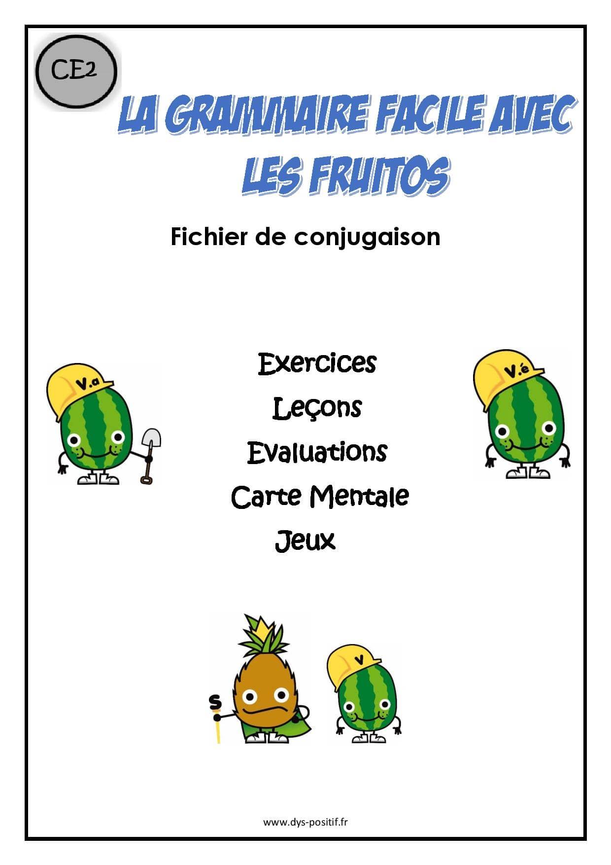 Conjugaison CE2 - Méthode Fruitos