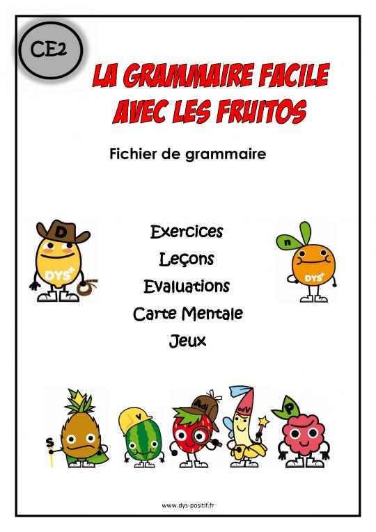 Grammaire CE2 - Méthode Fruitos