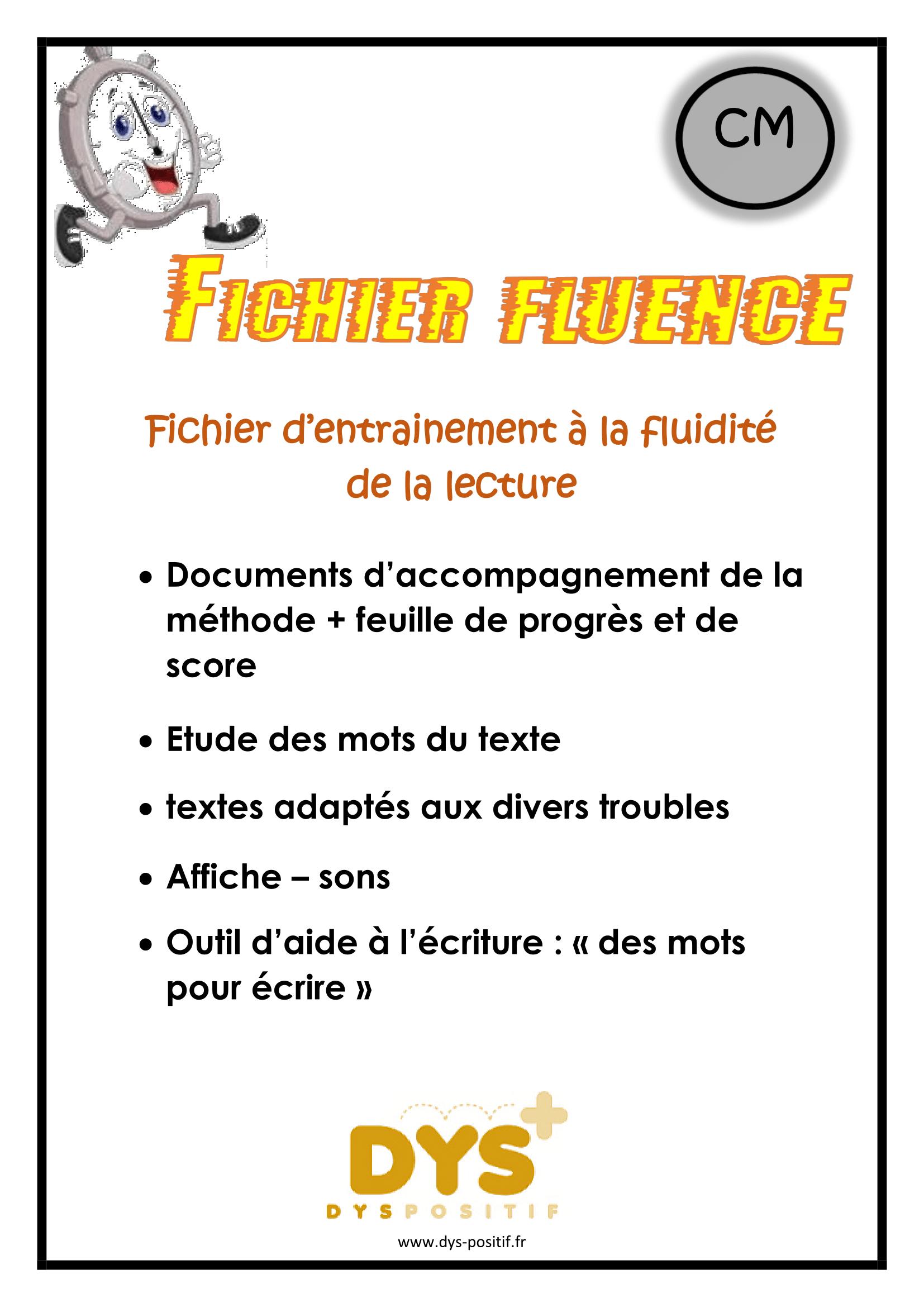 Lecture fluence CM1