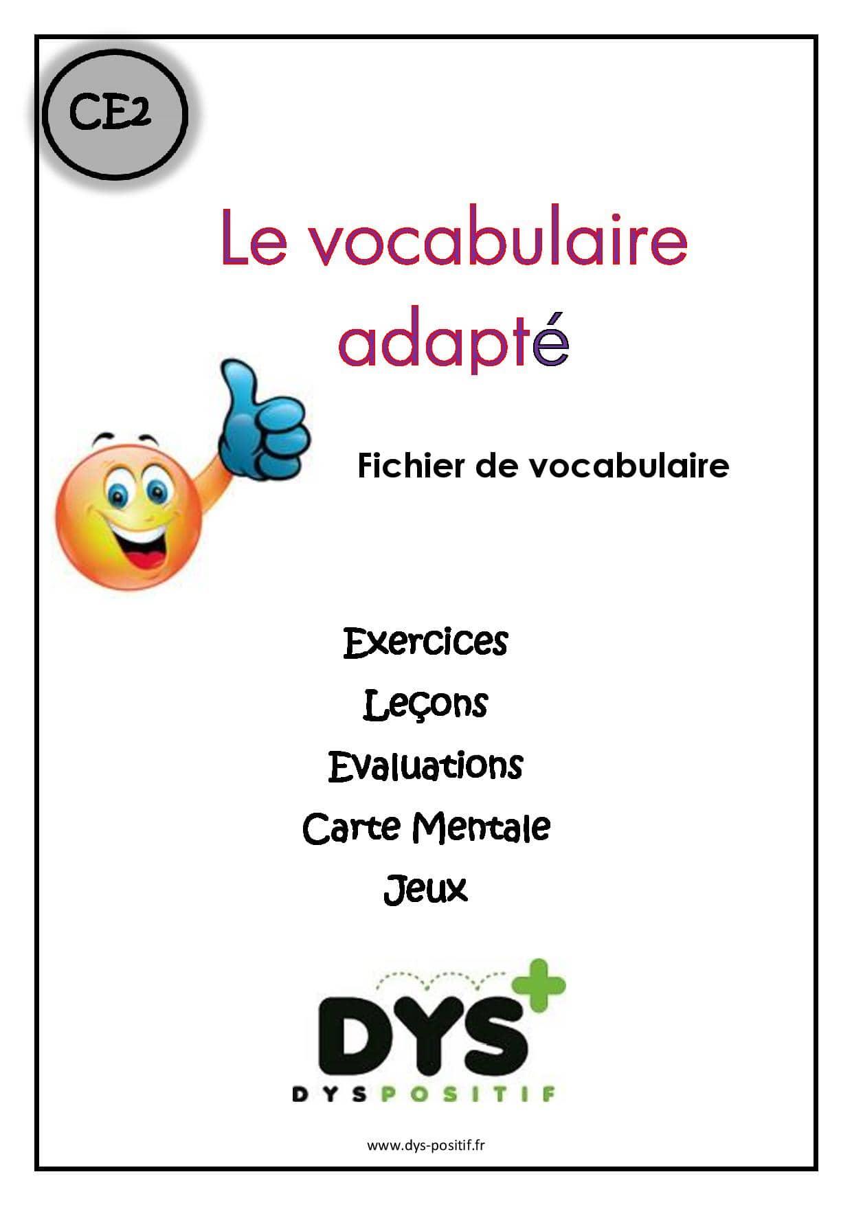 Vocabulaire CE2
