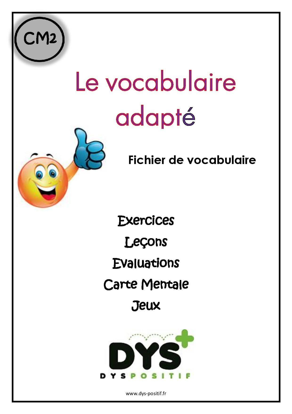 Vocabulaire CM2